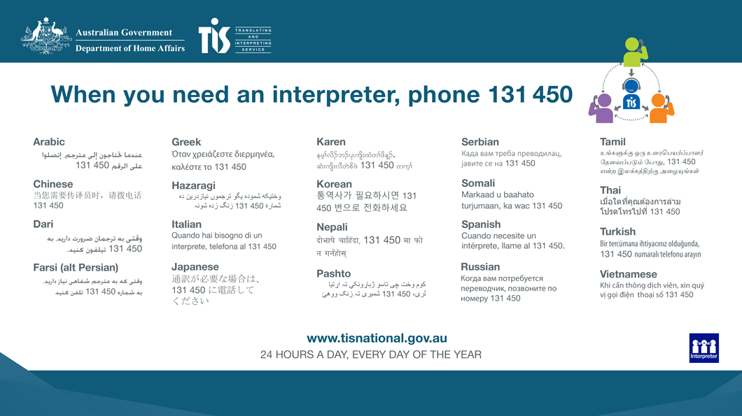 Translating and Interpreting Service - 131 450